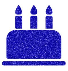 Birthday cake icon grunge watermark vector