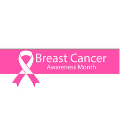breast cancer awareness month banner with shadow vector image