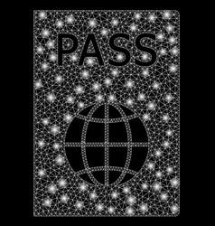 Bright mesh 2d passport with light spots vector