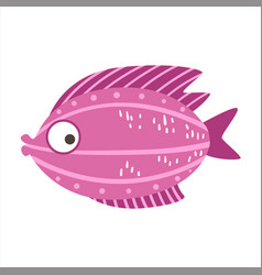 Burgundy and pink fantastic colorful aquarium fish vector