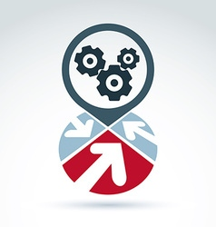 Business and cooperation icon with gears cogs and vector