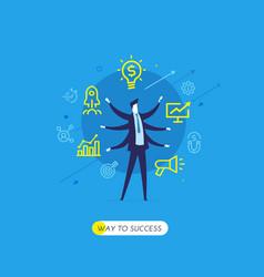 businessman development startup vector image