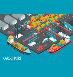 cargo port vector image