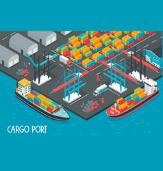 Cargo port vector