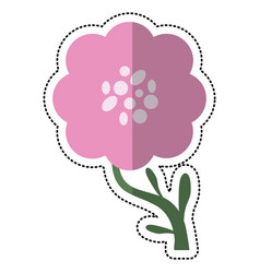 cartoon peony flower decoration image vector image