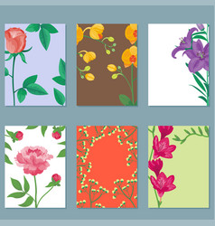 Cartoon petal vintage floral bouquet garden vector