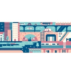 City abstract background flat vector