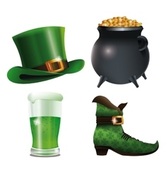 collection saint patricks day celebration vector image