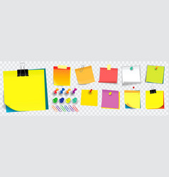 colorful sticky note using in school work or vector image