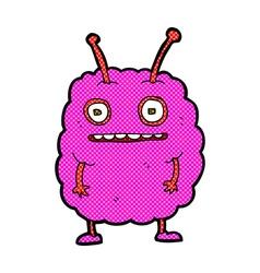 Comic cartoon funny alien monster vector