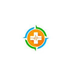 compass medical logo icon design vector image