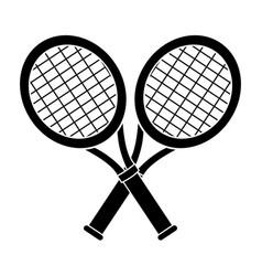Contour rackets to play tennis icon vector