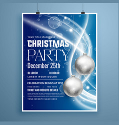 Creative poster flyer design for christmas party vector