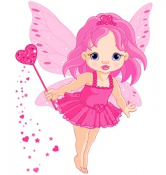 cute little baby love fairy vector image