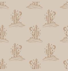 desert cactus navajo ethnic concept harmony vector image