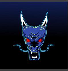 dragon head esport mascot design vector image