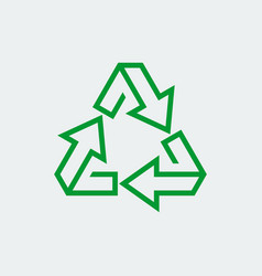 eco recycle sign icon in thin line style vector image