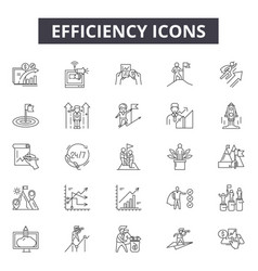 Efficiency line icons for web and mobile design vector