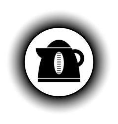 Electric kettle button vector image