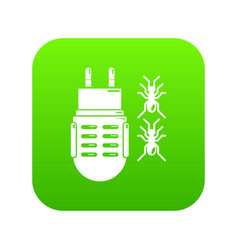 electric mosquito icon green vector image