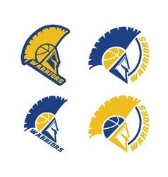 emblems basketball warriors team vector image