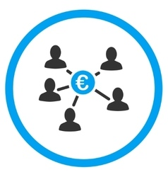 Euro Client Payments Rounded Icon vector image