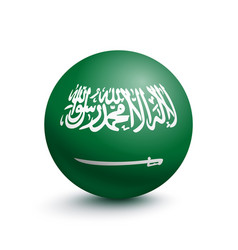 flag of saudi arabia in the form of a ball vector image