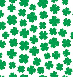 Four leaf clover seamless pattern vector