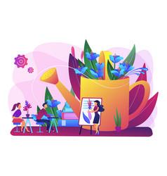 Garden workshop concept vector