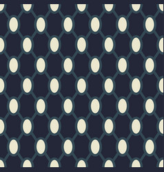 geometric grid pattern with dark blue netted vector image