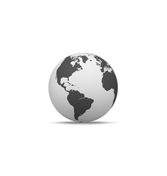globe shape in realistic style with shadow vector image