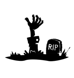 Hand reaching from the grave vector