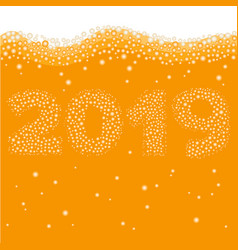 Happy new year 2019 concept vector
