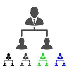 human hierarchy flat icon vector image