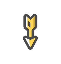 Hunting arrow golden dart cartoon vector