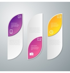 infographics three rectangles vector image