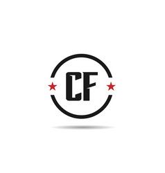 Initial letter cf logo template design vector