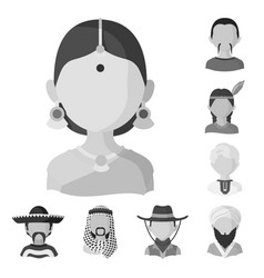 Isolated object person and culture symbol set vector
