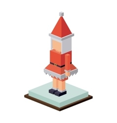 Isometric christmas santas wife design vector