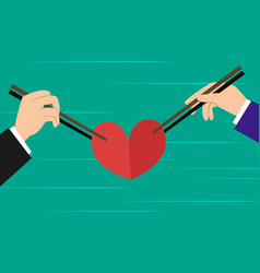 Love triangle love competition between two man vector