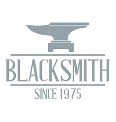 master blacksmith logo simple gray style vector image
