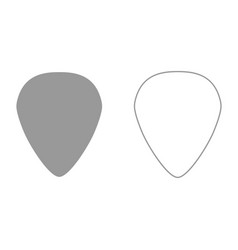 Mediator for guitar it is black icon vector