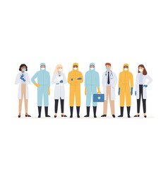medical workers professional doctors and nurses vector image