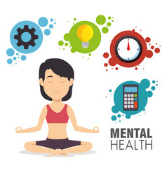 mental health concept day design vector image