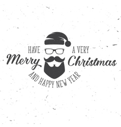 Merry Christmas and Happy New Year 2017 typography vector