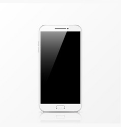 modern white touchscreen cellphone tablet vector image