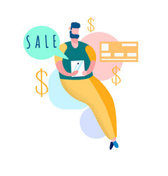 online shopping sales flat vector image