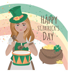 Patrick drummer saint holiday irish vector