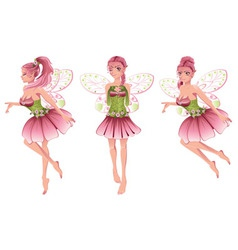 Pink Floral Fairy2 vector image