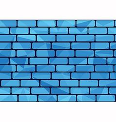 Plygon brick blue vector image